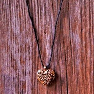 Hearts Within a Heart Goldtone Necklace